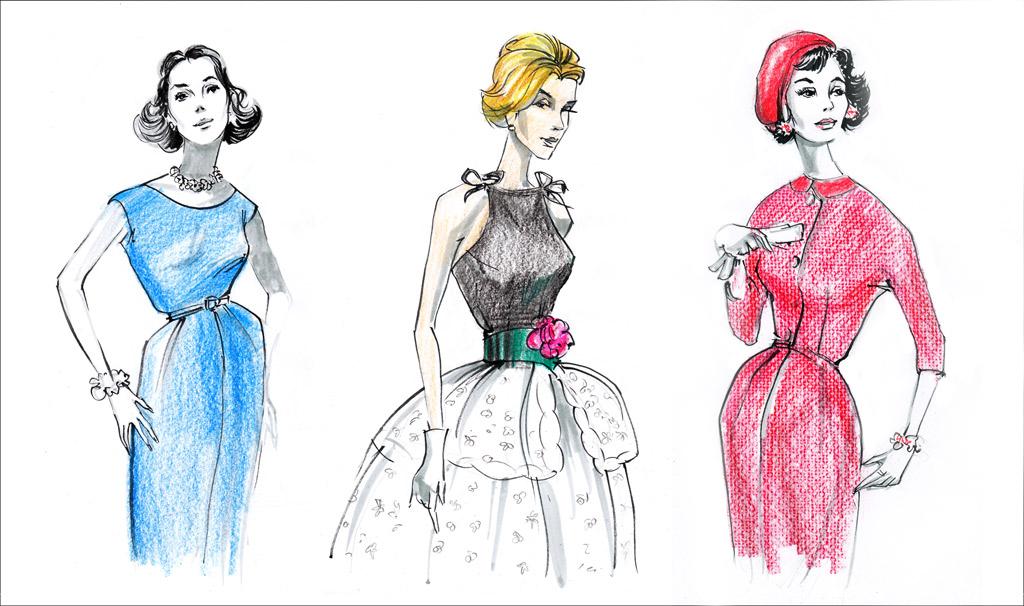 vintage-fashion-illustration-models