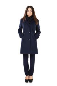 купить пальто синее