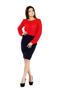 купить юбку и красную блузку