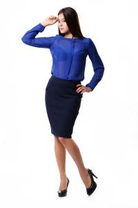 купить юбку и синюю блузку