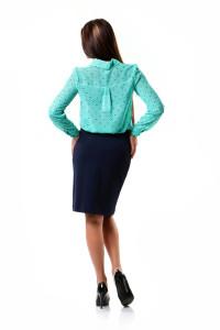 юбка и бирюзовая блузка