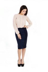 юбка и молочная блузка 7355, 7350_3