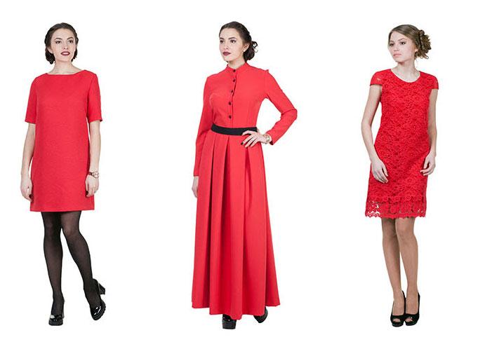 красные-платья-купить-Лавис